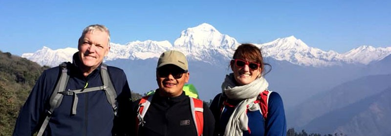 our guide and clients at Ghorepani Poon Hill Trek 5 Days