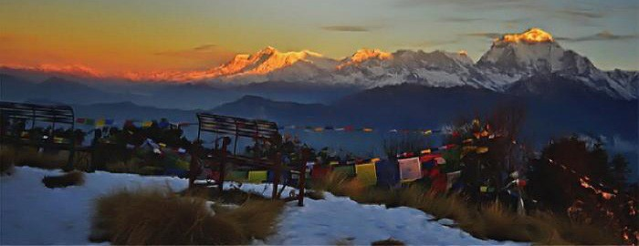 Himalayan range from Poon Hill