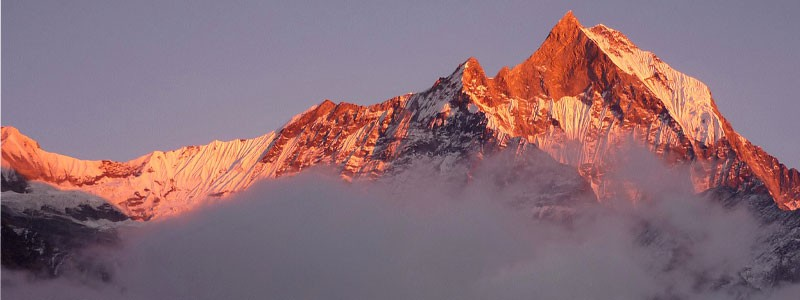 Mount Fishtail seen from Annapurna Base Camp