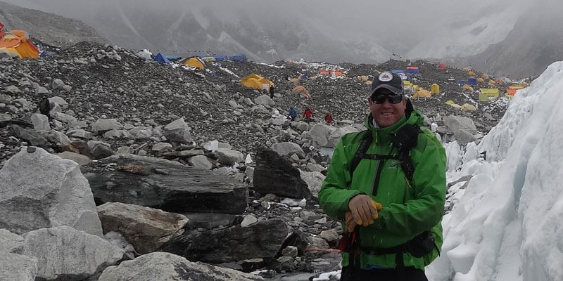 Everest Base Camp View with Tents