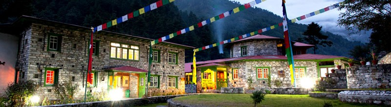 Luxury lodge during Namche Bazaar luxury hike Everest region