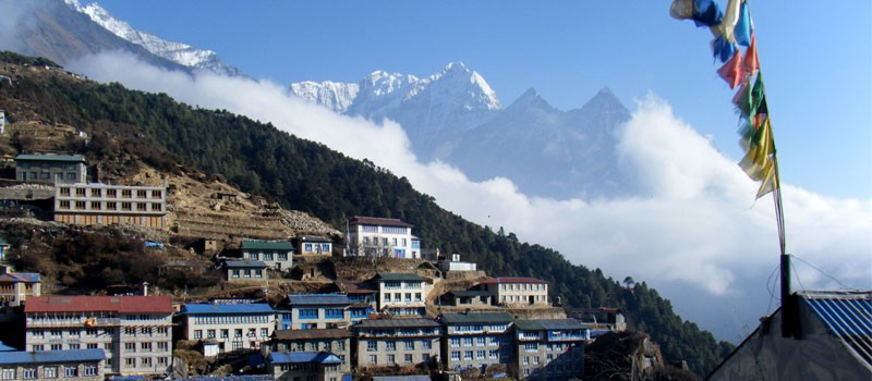 Namche Bazaar gateway to Everest Base Camp trek