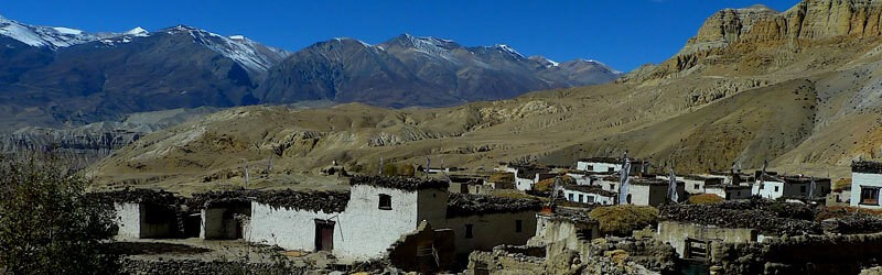 Isolated village of Upper Dolpo trekking