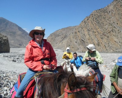 Horse riding in Upper Mustang