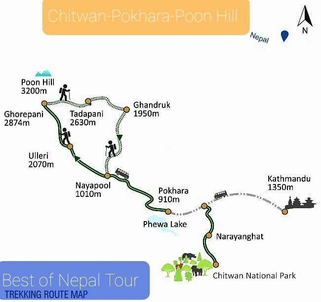 Adventure Trekking Tour Vacation Package 2022 map